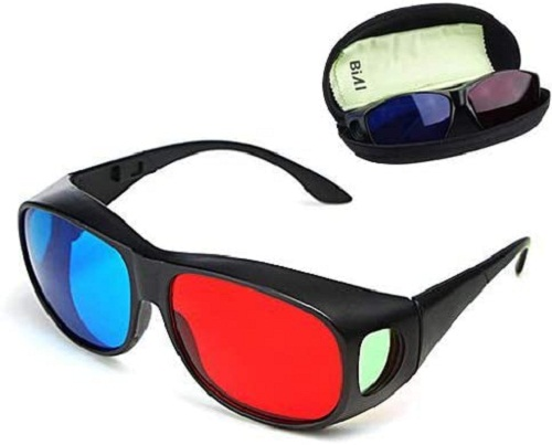 BIAL REDBLUE 3D GLASSES /CYAN ANAGLYPH STYLE 3D GLASEES