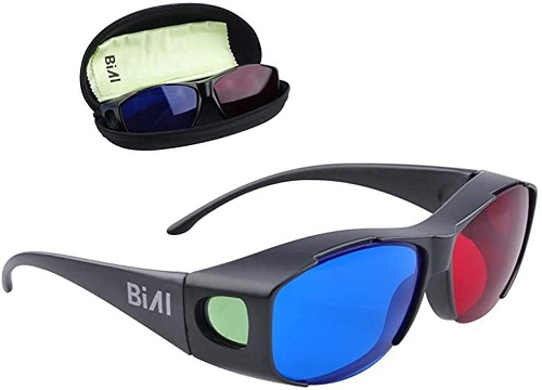 BIAL 2PACK RED BLUE 3D GLASSES