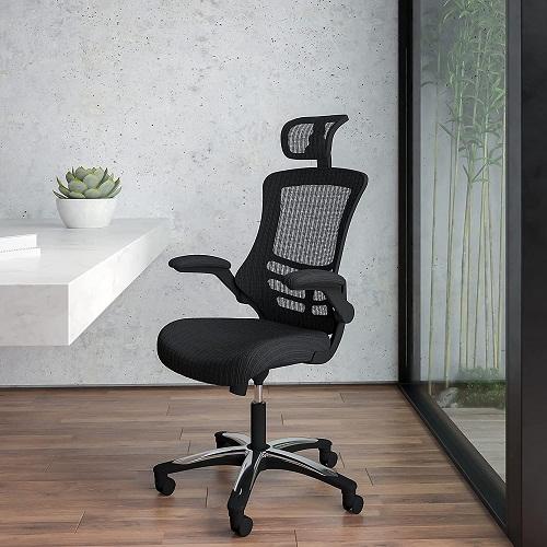 2. Flash furniture high black mesh swivel ergonomic executive office chair