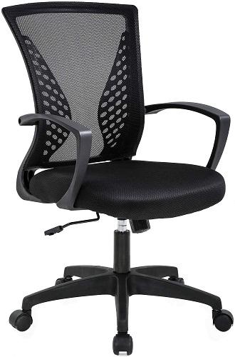 BestOffice ergonomic desk chair mesh computer chair with lumbar support