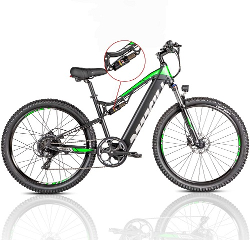 GS9 PRO Paselec electric mountain bike for adults 2.5'' electric bike with hydraulic brakes