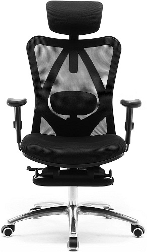 SIHOO ergonomic office chair with footrest