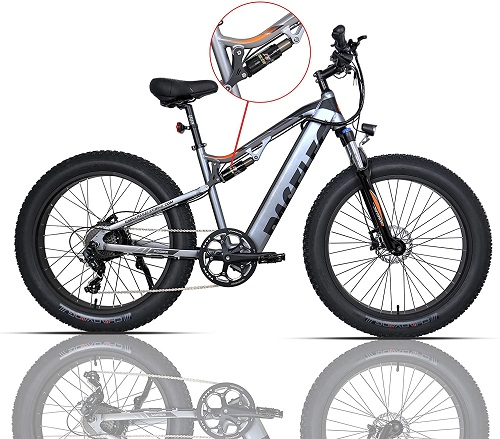 Paselec GS9-plus electric mountain bike for adults with 14.5 Ah hidden removable battery 750W